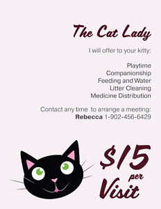 The Cat Lady- kitty sitting service