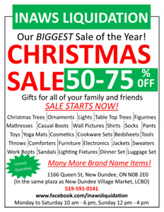 Christmas Sale, Pre-lit Tress, Ornaments, Figures And Many More!