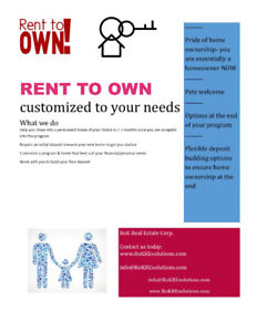 Stop renting and become a Home Owner Now!!