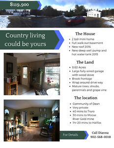 Home, large garage and large property for sale