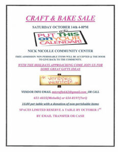 craft/bake sale