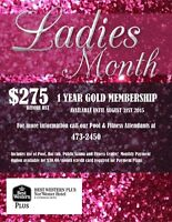 EXCLUSIVE LADIES 1 YEAR GYM MEMBERSHIP $275 PLUS HST