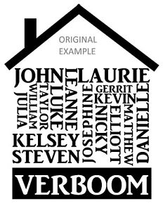 CUSTOM Family Name House Designs