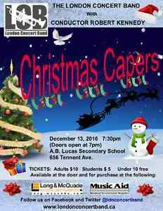 """London Concert Band - """"Christmas Capers"""" London Ontario image 1"""