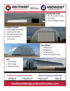 Archwalls, Quonsets. Metal Buildings for Sale!
