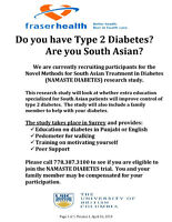UBC Research: South Asians living with Diabetes