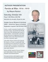 """Fernie at War:1914-1919"" Presentation & Book Signing"