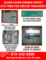 Fuse Panel Upgrade to Circuit Breakers  Call!