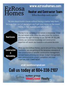Licensed BUILDER . Priced right! Builder/Realtor Team