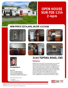 OPEN HOUSE SUN FEB 12th 2-4pm