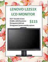 "SPRING MONITOR SALE - LENOVO 22"" LCD Monitor Only $115!"