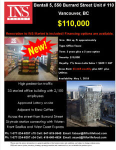 INS Market Franchise – Bentall 5, Vancouver, BC