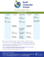 English and Spanish courses in Banff starting Sept 23!