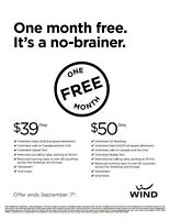 JOIN WIND ON OUR SMARTPHONE 39 OR 50 PLAN AND GET ONE MONTH FREE