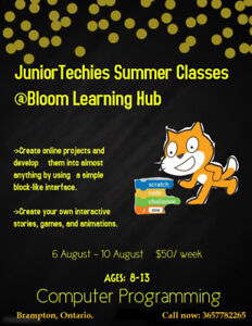 Computer/Coding classes for kids in Brampton
