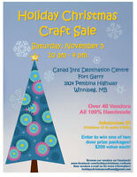 Holiday Christmas Craft Sale! Applications due June 30th!