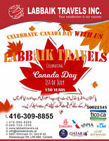 best discount Travel deals on Canada day Celebration