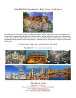 Spectacular Italy Pilates, Yoga & Fitness Tour - Fall 2016