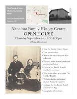 NANAIMO FAMILY HISTORY OPEN HOUSE