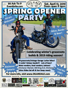 Oil and Ale Spring Opener Weekend!!! Apr12-14