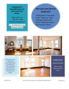 Hourly Studio Rentals