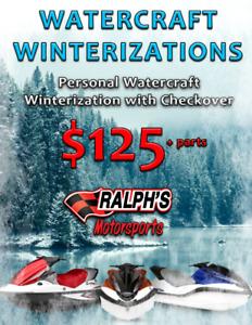 Personal Watercraft Winterization – Just $125