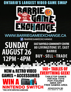 Barrie Game Exchange Sun August 26th Canada's Largest Game Swap
