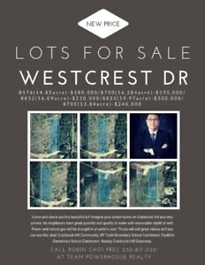 Lots for sale on 8576, 8700, 8832, 8833,8705 Westcrest dr