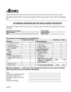 Automotive Insurance inspection. Can also do rhd vehicles.