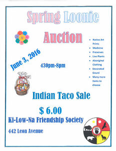 Loonie Auction and Indian Taco Sale