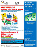 Health and Safety Rights for Workers - Free Workshop