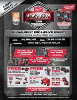 Milwaukee Heavy Duty Tour 2017 at Sherwood Park Home Depot