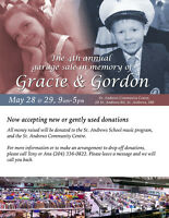 4th annual garage sale in memory of Gracie and Gordon
