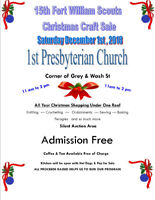 15th Fort William Scouts Annual Christmas Craft / Bake Sale