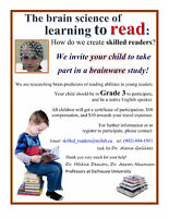 Wanted: participants for a brainwave study of reading abilities