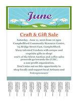 Vendors Wanted/Campbellford Craft & Gift Sale