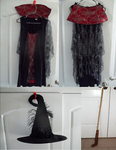 **LAST CHANCE**    GIRL'S WITCH COSTUME SIZE SMALL/MEDIUM