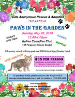 Paws in the Garden 2019! Fundraising Lunch for Cats Anonymous.