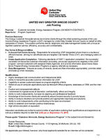 Job Posting - Customer Advocate, Energy Assistance Program