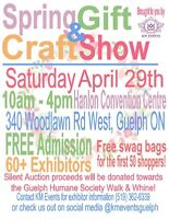 VOLUNTEERS NEEDED - Spring Gift & Craft Show
