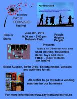 Vendors Wanted for Brantford Pay It Forward Festival