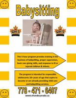 Pro-D Day Babysitting Course in Langley May 4th