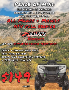 ATV Full Service for Any Make & Any Model – Just $149