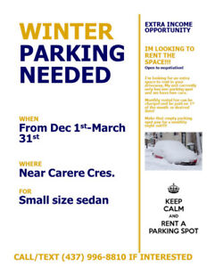 Winter Parking Wanted!!