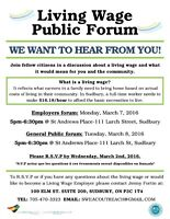 Living Wage Public Forum- We Want to Hear From YOU!
