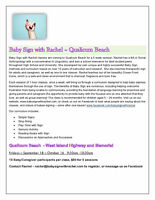 Baby Sign Language Classes QB and Parksville