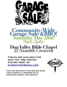 Community Garage Sale and BBQ