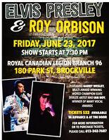Elvis Presley &  Roy Orbison Show Sunday June 23rd