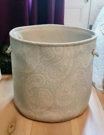 Soho Home Canvas Storage Basket / Laundry Basket RRP £110