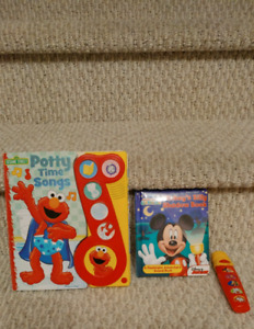 Mickey Book & Flashlight & Elmo Potty Book